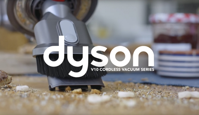 Dyson V10 Cordless Vacuum on-line video series