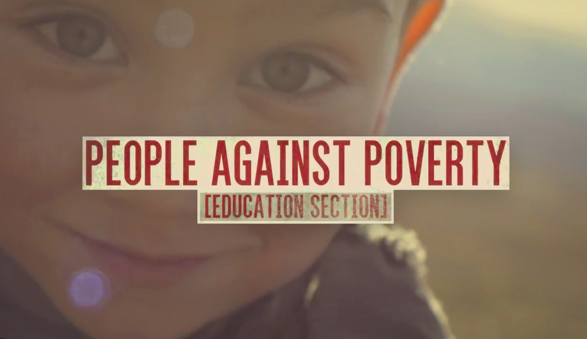 People Against Poverty, Romanian Educational Section.