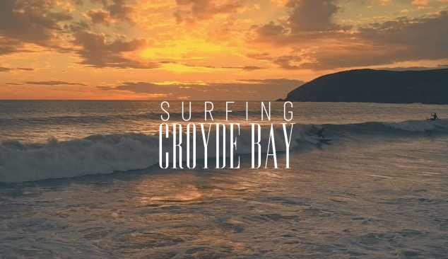 Surfing Croyde Bay at Sunset